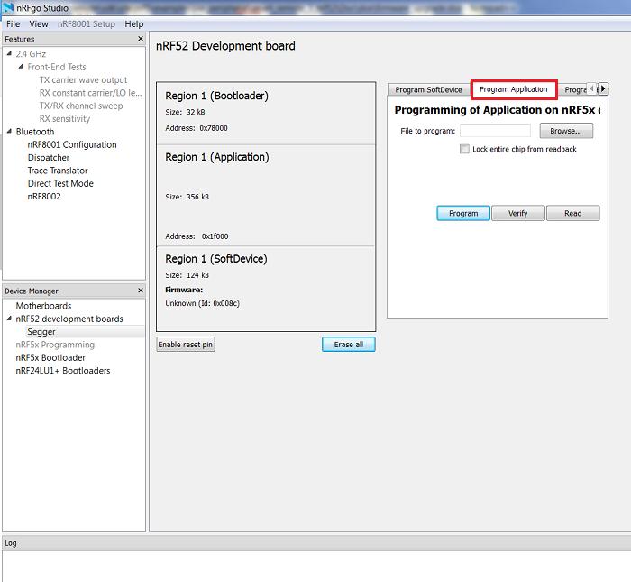 Nordic Thingy:52 v2 2 0 : Firmware upgrade using nRFgo