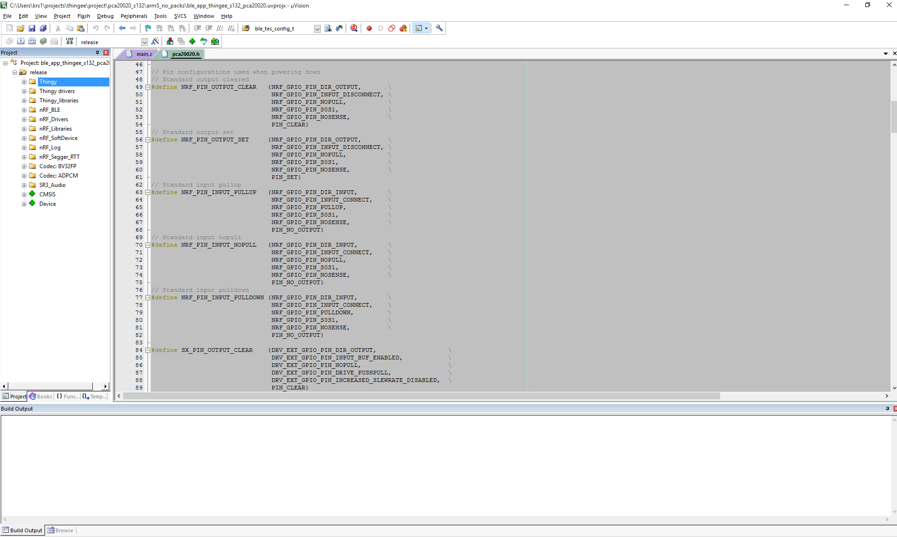 Nordic Thingy:52 v2 2 0 : Compiling new firmware